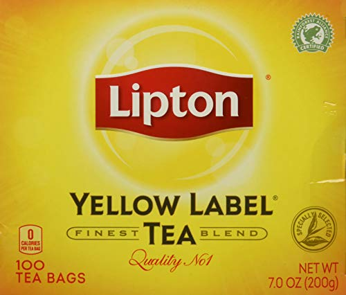 (Lipton Yellow Label TeaBag, 100 Count Box)