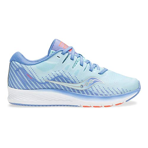 Saucony Kids Ride ISO 2, Blue/Coral, 3Y M ()