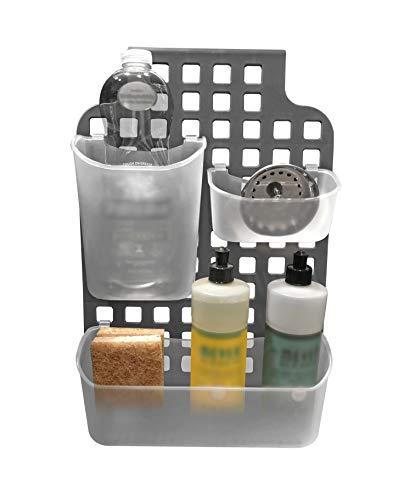 (Over The Door Mount Kitchen and Bathroom Cabinet Vanity Storage Organizer Basket (Cabinet/Vanity Organizer))
