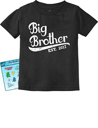 TeeStars - Gift for Big Brother 2017 Toddler/Infant Kids T-Shirt 2T Black