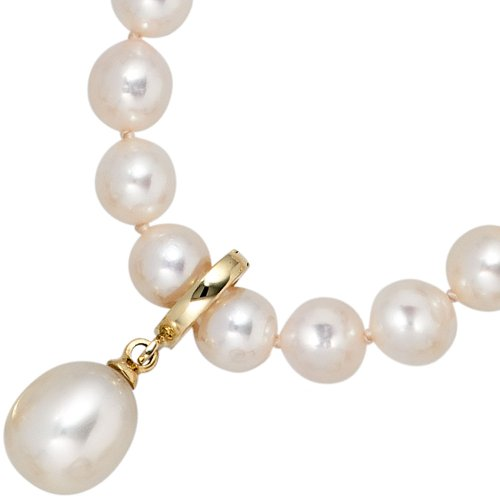 Bijoux les charmes de bijoux en or jaune 585 à l'eau douce perle de culture (environ 1,5 g), hauteur 21,8mm, L 8,3mm