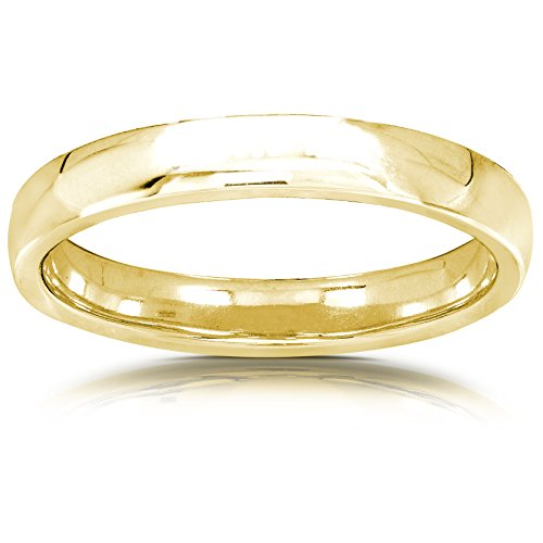 High Polish Solid Gold Wedding Ring Band 14K Yellow Gold (2.75mm), 4.5 from Kobelli
