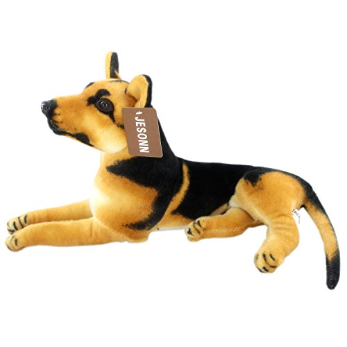 JESONN Realistic Stuffed Animals German Dog Shepherd Plush Toys (15.3 Inch)