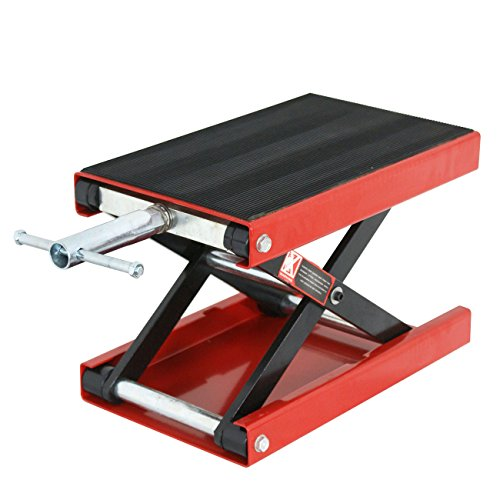 ZENY 1100 LB Wide Deck Motorcycle Center Scissor Lift Jack Repair Hoist Stand Bikes ATVs,Motorcycle Dirt Bike Scooter Crank ()