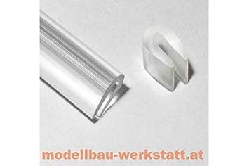 Bevorzugt Modellbau-Werkstatt 1m Kantenschutz transparent 3,5x5,0mm für FK87