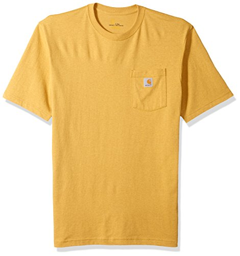Carhartt Men's Big K87 Workwear Short Sleeve T-Shirt (Regular and Big & Tall Sizes), Gold Heather, X-Large/Tall ()