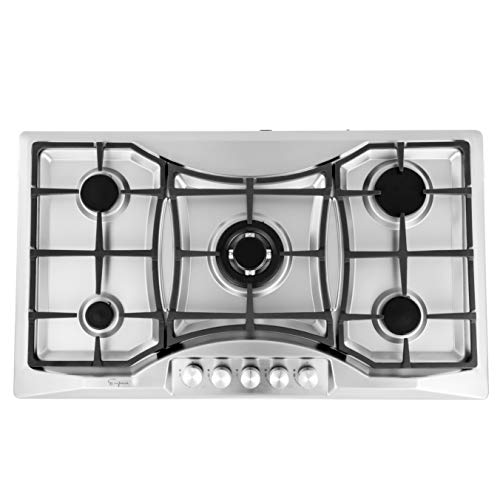 Empava EMPV-36GC888 Gas Stove Cooktop 36 Inch 36in Electronic Ignition Gas Range