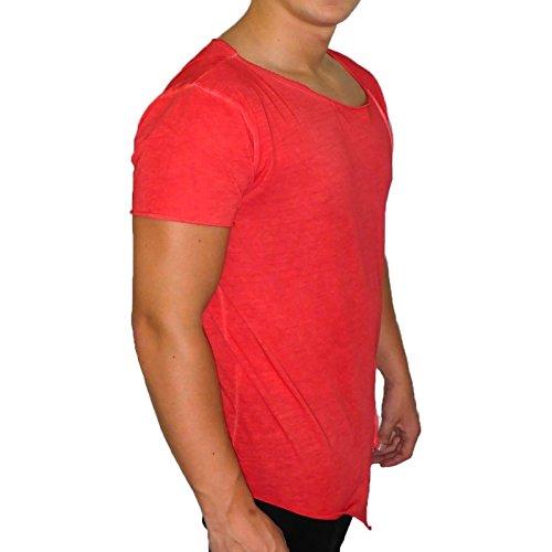 Boom Bap - KILLER CONTEMPORARY LINE - T-Shirt Herren - washed rot - Boom Bap - BME0019-R - L, Rot