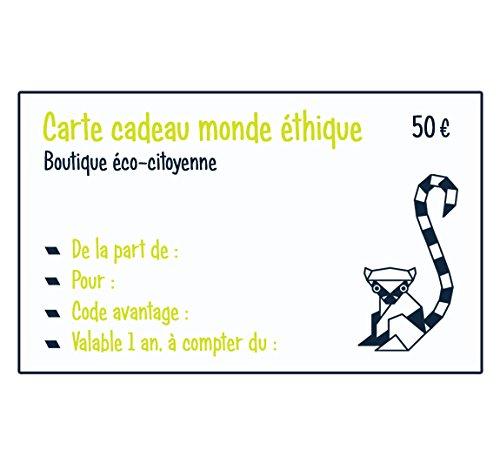 Taille 50 E Homme Monde Cadeau Sac Unique Carte Ethique wcf7q07X