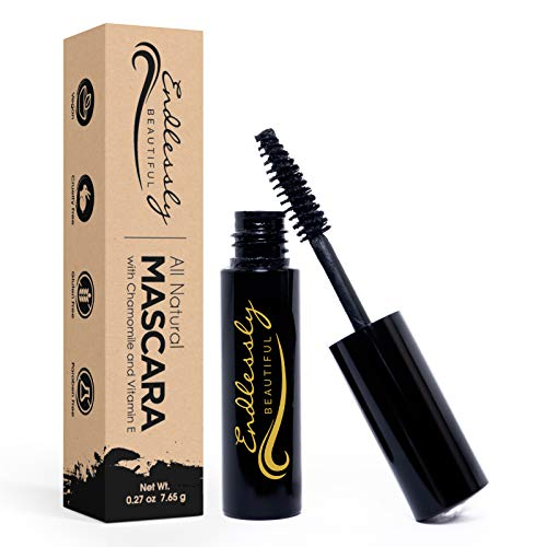 Mascara Black - by Endlessly Beautiful - Organic MakeUp - Perfect Stocking Stuffers Ideas - Vegan Gifts - Teacher Christmas Gifts - Coworker Christmas Gifts