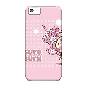 5c Scratch-proof Protection Case Cover For Iphone/ Hot Kawaii Pink Phone Case