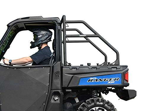 SuperATV Heavy Duty Rear Roll Cage Support for Polaris Ranger Midsize 500/570 / EV/ETX/Crew - SEE FITMENT - Wrinkle ()