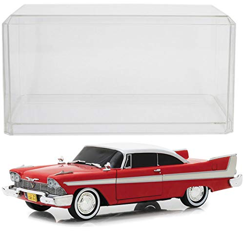 Johnson Smith Co. (Set) 1958 Plymouth Fury Christine 1:24 Scale Die Cast & Clear Display - Fury Set Plymouth