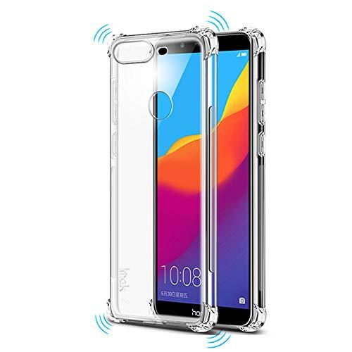 Crystal Transparent Slim Anti Slip Airbag Case Shockproof Back Cover Soft TPU Phone Case for Huawei P Smart FIG-LX3 FIG-LX2 FIG-LX1 FIG-L21 FIG-L22 FIG-LA1 5.65