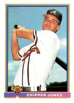 1991 Bowman Baseball 569 Chipper Jones Rookie Card At
