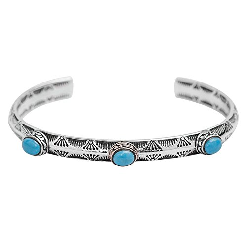 Daesar 925 Silver Bracelet For Women And Men Turquoise Unisex Bracelet Silver by Daesar
