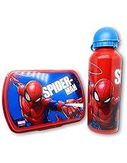 YUNA Spiderman Avengers Lunchbox + drinkfles voor jongens / meisjes - Spiderman - Avengers (Spiderman)