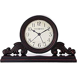 Howard Miller Bishop Table Clock 645-653 - Modern & Square with Quartz Alarm Movement