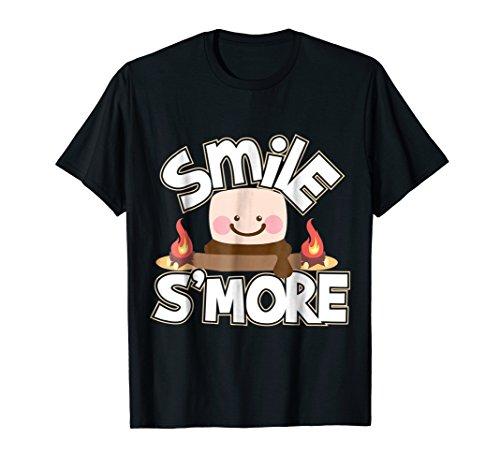 Smile Smore Funny Campfire Camping T-Shirt