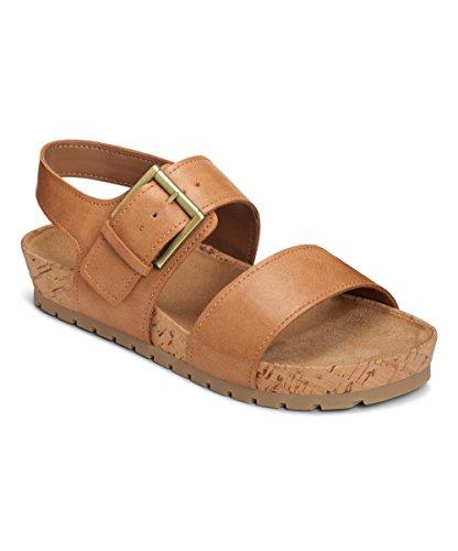 Aerosoles Women's Compass Flat Sandal, Light Tan, 7 M (Compass Shoes)