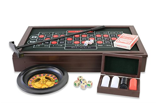 Roulette, Poker Set 4en1, Blackjack Crap, Texas Hold 'em