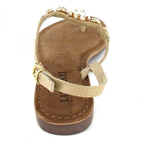 Lazamani Sandalette , Farbe: beige