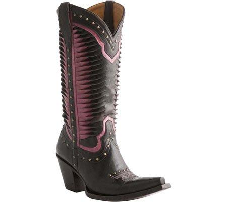 Lucchese Mujeres Cheyenne Western Fashion Bota Shoe Chocolate