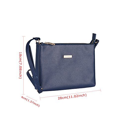 Blue Bags Bag Leather 01 Shoulder Travel nbsp;Girls Cross Bag Lightweight MIRACLE nbsp;PU Classic body Purse SEPT Women Modern Uw0RxqanfX