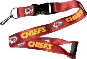 NFL Kansas City Chiefs Team Color Lanyard, 22-inches, Red - Kansas City Chiefs Lanyard