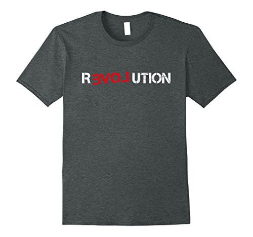 Mens Revolution Love Shirt XL Dark Heather