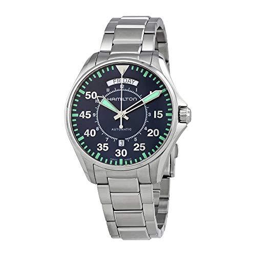 - Men's Hamilton Khaki Aviation Pilot Day Date Auto Watch H64615145