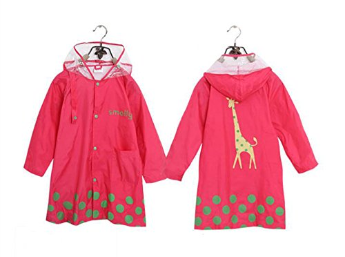 WOERKAZLD Cute Cartoon Waterproof Children Raincoats,Light Suitable For Girl and Boy 4 Size. (S, Pink)