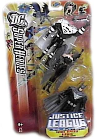 Batman /& Hawkgirl Mattel Toys DC Super Heroes Justice League Unlimited Action Figure 3-Pack Justice Lords Superman