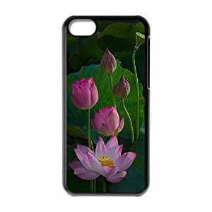 Water Lily Phone Case For Iphone 5C [Pattern-1]