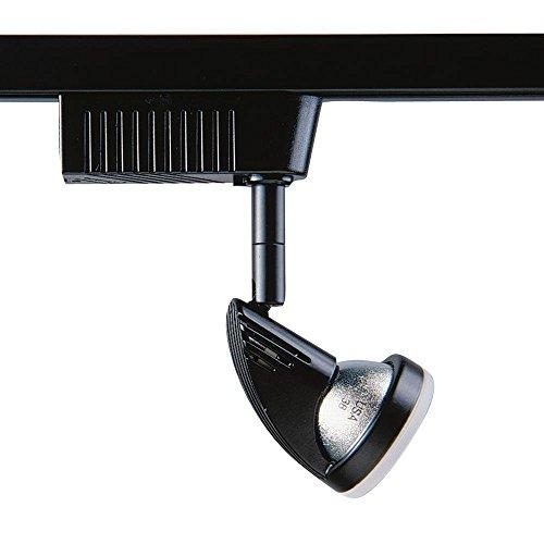 Kendal Lighting TL2001-BLK/FR Designers Choice Cylinder 1-Light 12V Track Head with Frost Glass Trim, Black Finish Frost Glass Cylinder