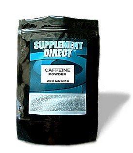 Supplément à poudre de caféine 200 grammes