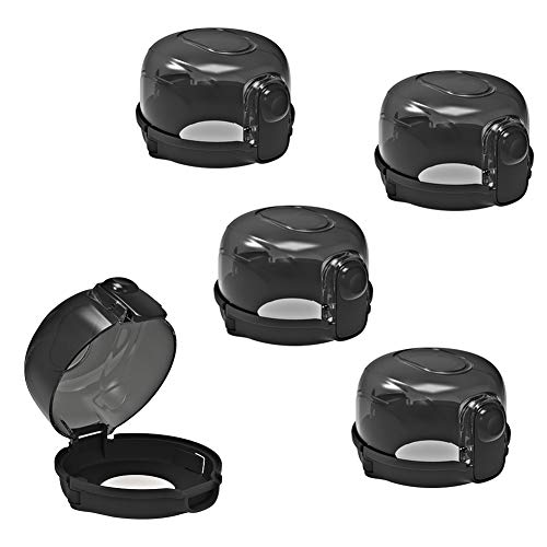 Cypropid Kitchen Stove Knob Covers, Baby Safety Gas Stove Knob Covers, Protection Locks for Child Proofing – 5 Pack