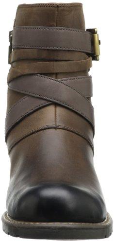 Clarks Womens Orinocco Sash Boot In Pelle Marrone