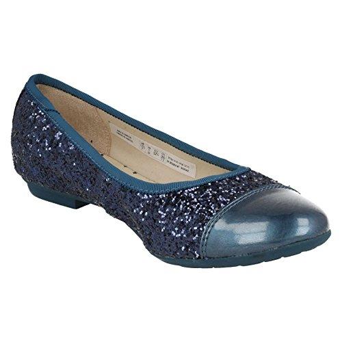 Clarks Mädchen außerschulischen Tizz Rona Junior Synthetik Schuhe in Blaugrün