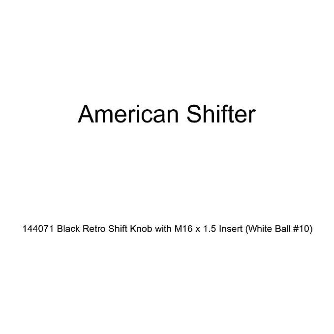 American Shifter 152233 White Retro Shift Knob with M16 x 1.5 Insert Orange Domo Jammin