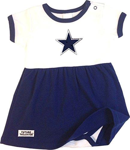 Dallas Baby Onesie Dress (12 (Girls Dallas Cowboys)