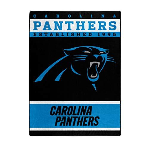 NFL Carolina Panthers 12th Man Plush Raschel Throw, 60