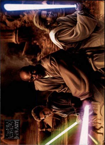 2018 Topps Star Wars Galaxy Non Sport Trading Card #78 Battle in the Arena Mace Windu, Anakin Skywalker and Obi-Wan Keno Official Collectible Entertai