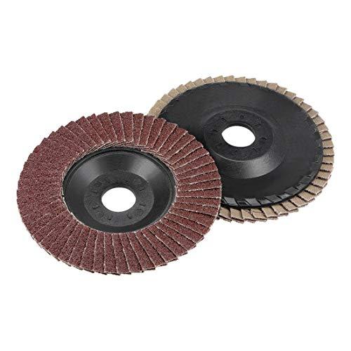 uxcell フラップディスク 研削フラップディスクホイール 研磨砥石フラップ 240グリット 2個入り