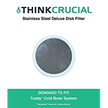 Reusable Deluxe Stainless Steel & Rubber Disk Filter Fits All Toddy Cold Brew Coffee Systems, Including T2N Model