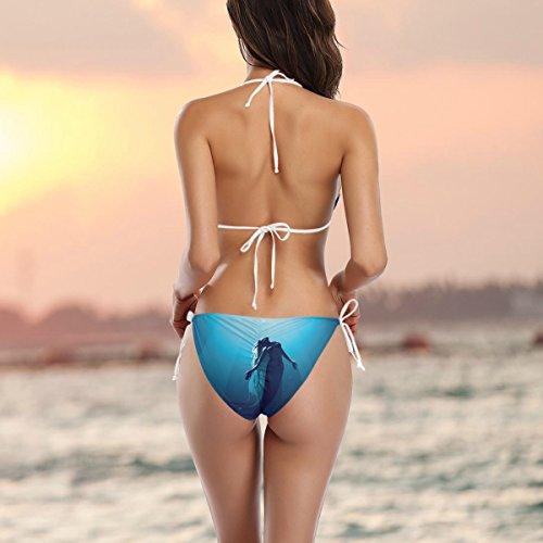 COOSUN Mermaid-Bikini-Badeanzug Tie Side Gepolsterte Bikini-Badebekleidung zwei Stücke Badeanzug XS Mehrfarbig k2Ic0dHCK