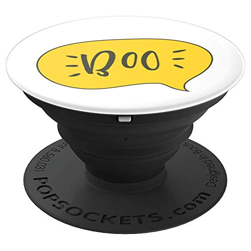 BOO Quote Halloween October Phone Stand Accessory - PopSockets Grip and Stand for Phones and -