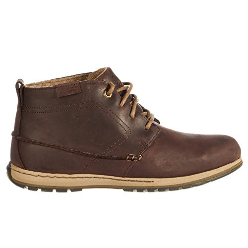 Columbia Men's Davenport Chukka Waterproof Leather Cordovan/Prairie Sand Boot 10.5 D (M)