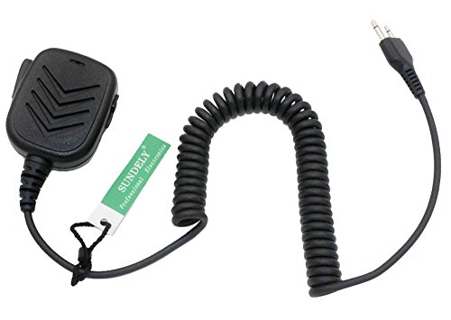 SUNDELY® Handheld/Hand Shoulder Mic with Speaker For Icom Radio IC-A6 IC-A110 IC-E90