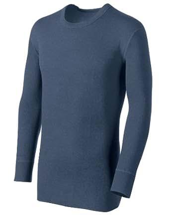 Duofold® by Champion® Originals Heavyweight 2-Layer Tall Men's Crewneck Shirt, XL-Blue Jean